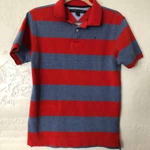 Tommy Hilfiger boys 16-18 pull over, red & blue